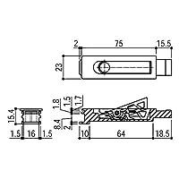 YKKAP メンテナンス部品 引違い補助錠 (HH-2K-33918) BB:ブラウン *製品色・形状等仕様変更になる場合があります*