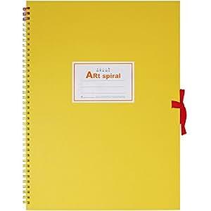 マルマン スケッチブック アートスパイラル F4 厚口画用紙 24枚 イエロー S314-04