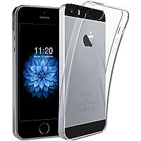 iPhoneSE 5S 5 ケース,DOSMUNG アイフォン 5S ケース, 高品質 クリスタル クリア 透明 TPU素材 落下防止&衝撃吸収 擦り傷防止 薄&柔軟型 最軽量 水洗可