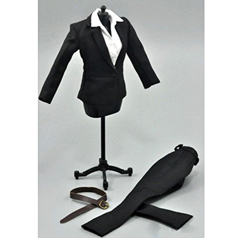 【ノーブランド 品】女性 黒 ビジネススーツ 1/6 アクションフィギュア 衣装