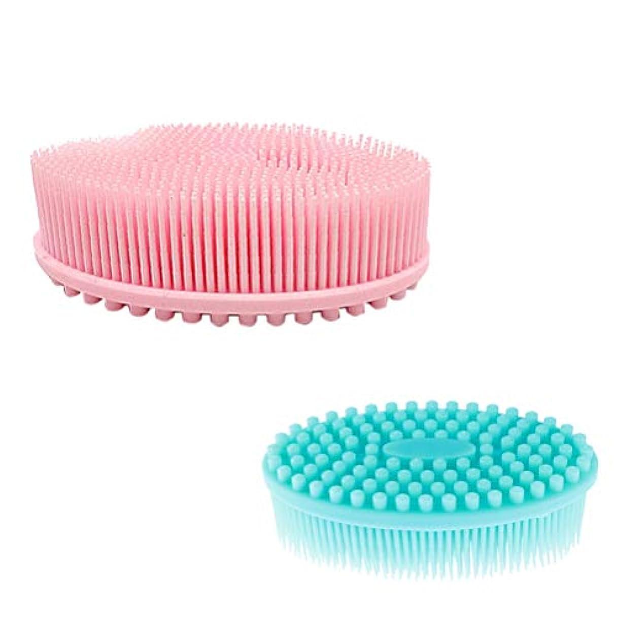 規定ゲージ世代Healifty 2ピース ベビー ボディ ヘア シャンプー ブラシ 血行促進 角質除去 美肌効果 お風呂用 シリコン製