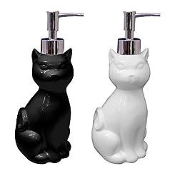 可愛い猫がおとなしく座っている形のディスペンサー♪【キャットディスペンサー ブラック】