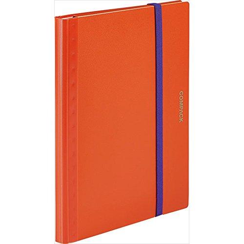 キングジム クリアファイル A4 二つ折り コンパック オレンジ 5894Sオレ