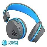 JLab Audio JBuddies Studio Bluetooth Over-Ear Kids Headphones   13 Hour Battery Life   Studio Volume Safe   Volume Limiter   Folding   Adjustable   Noise Isolation   with Mic   Graphite/Blue