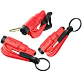 Res-Q-Me Keychain Escape Tool Red (3 Pack)