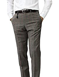 【アウトレット品】 インコテックス 国内正規品 N35型 SLIM FIT ウール ファンシーチェック スラックス 1NT035 44 グレージュ