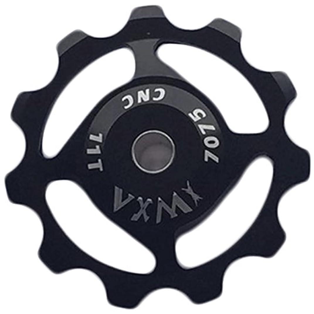 マウスピースから延ばすリアディレイラー11tアルミ合金ジョッキーホイール27速度ガイドローラーアイドラープーリー部分自転車アクセサリーパーツ_黒