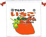 ティーズファクトリー フラット 巾着 お菓子シリーズ マルカワフーセンガム いちご 20×0.3×20cm