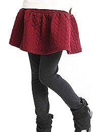 YRINA キッズ スカート 付 レギンス スカッツ 裏起毛 子供 服 女の子 スカート ガールズ スパッツ 100~140cm