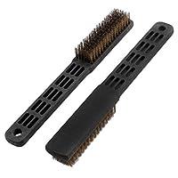 DealMuxナイロン毛のプラスチック家庭ウィンドウのクリーニングブラシスクラブスワブ2 PCSハンドル