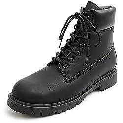 (グラベラ) glabella シークレットブーツ メンズ ワークブーツ 6cmup ブーツ (BB-108)  ブラック M(26cm-26.5cm)