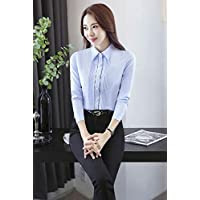 XuBa Novelty Blue Slim Fashion Formal Profoessional Work Suits with 2 Piece Tops and Pants Female Uniform Style Ladies Trousers Sets