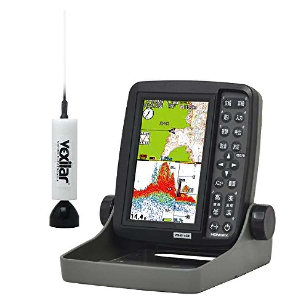 彼寄託体細胞HONDEX(ホンデックス) 魚群探知機 ポータブルGPSプロッター魚探 PS-611CN GPS内蔵 振動子 TD7 ワカサギパック 5型ワイド