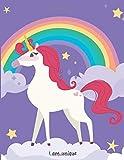 Magical Unicorn #07, Unicorn Wide Ruled Journal for Kids Girls, Journal for Kids Ages 7-12, Unicorn Notebook for Kids: Journal for Teen Girls, 8.5