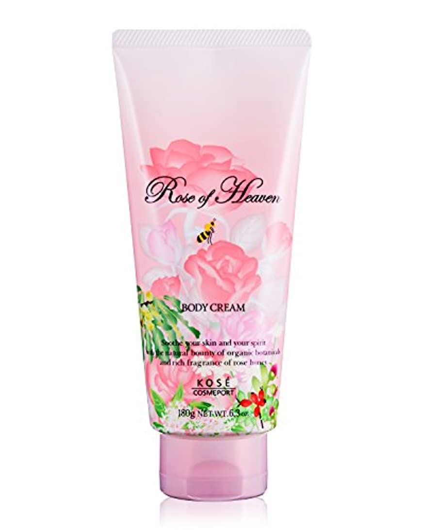 包帯通り物質KOSE コーセー ローズオブヘブン ボディクリーム 180g (バラの香り)