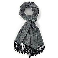 Plaid Warm Cashmere Blend Scarves Men Women Tartan Houndstooth Herringbone