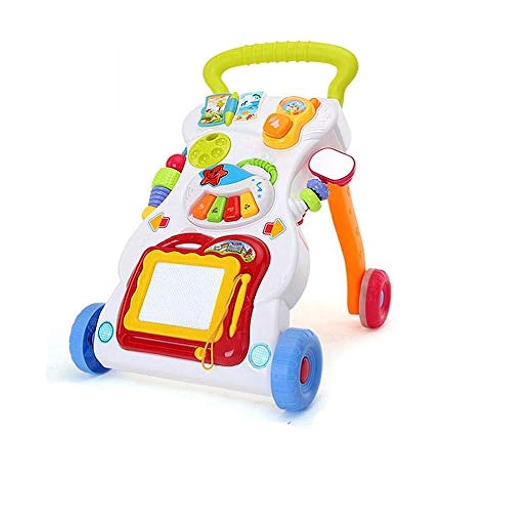 天井つらい免除するベビーウォーカー 歩くとロック多機能プレイトレイエンターテインメント子供たちのおもちゃ2では1ミュージカルサウンド?ウォーカー (Color : Multi-colored, Size : 45x41.5x31CM)