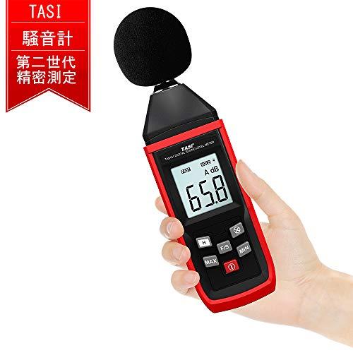 TASI 騒音計 騒音測定器 ノイズ測定器 サウンドレベルメーター 音量測定 手持ち LCD デジタル 30-130dB(A)電池付属