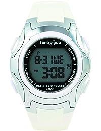 [タイムピース]Time Piece 腕時計 電波時計 ソーラー(デュアルパワー) デジタル TPW-001WH