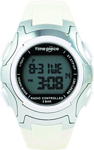 Time Piece タイムピース  腕時計 電波時計 ソーラー デュアルパワー  デジタル ホワイト TPW-001WH