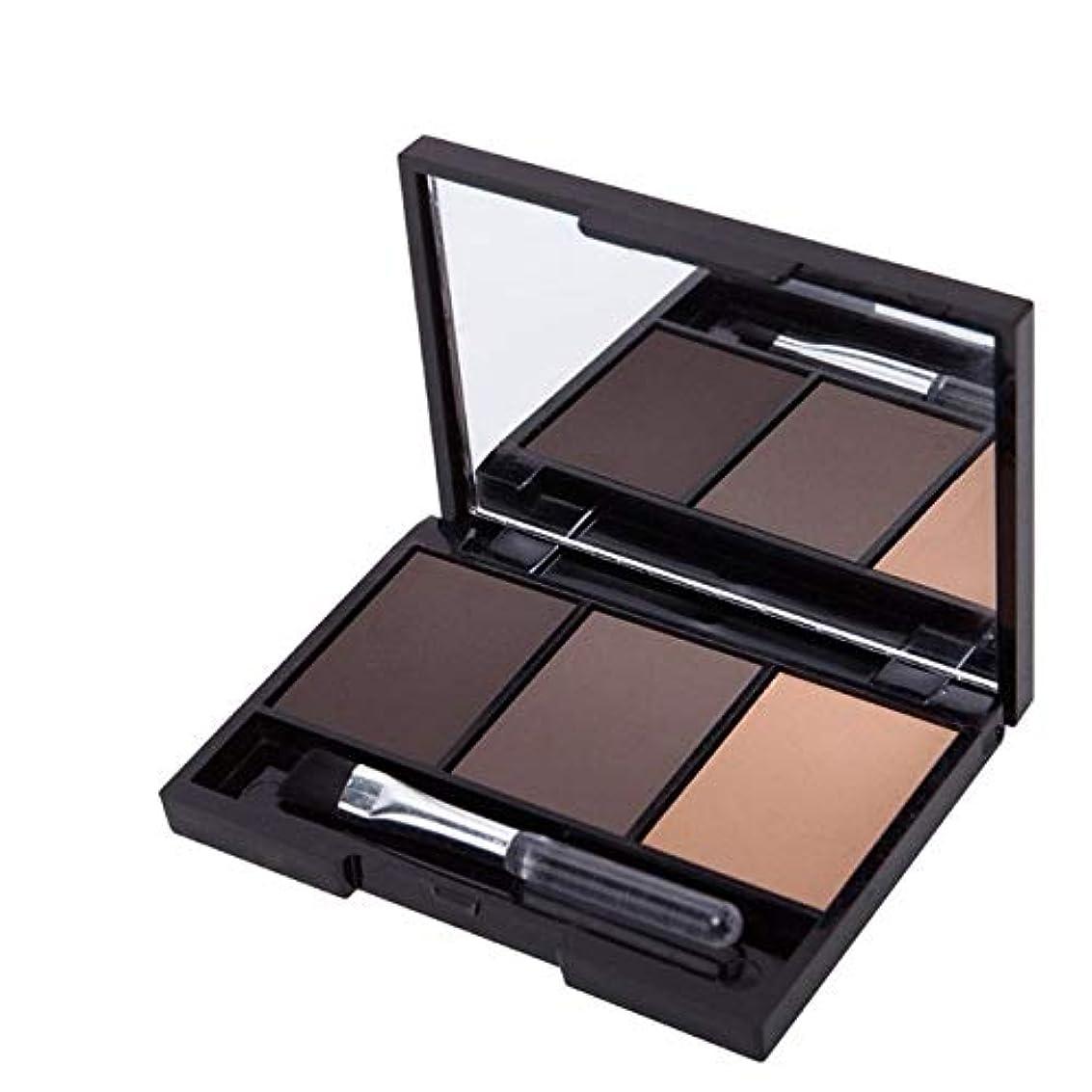 電報採用するリーン美容アクセサリー プロフェッショナルキットロングラスティングアイブロウシャドウパレット、ソフトブラシとミラー付き(1) 写真美容アクセサリー (色 : 2)