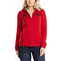 NAUTICA Women's Go-to Signature Cotton Full-Zip Logo Hoodie