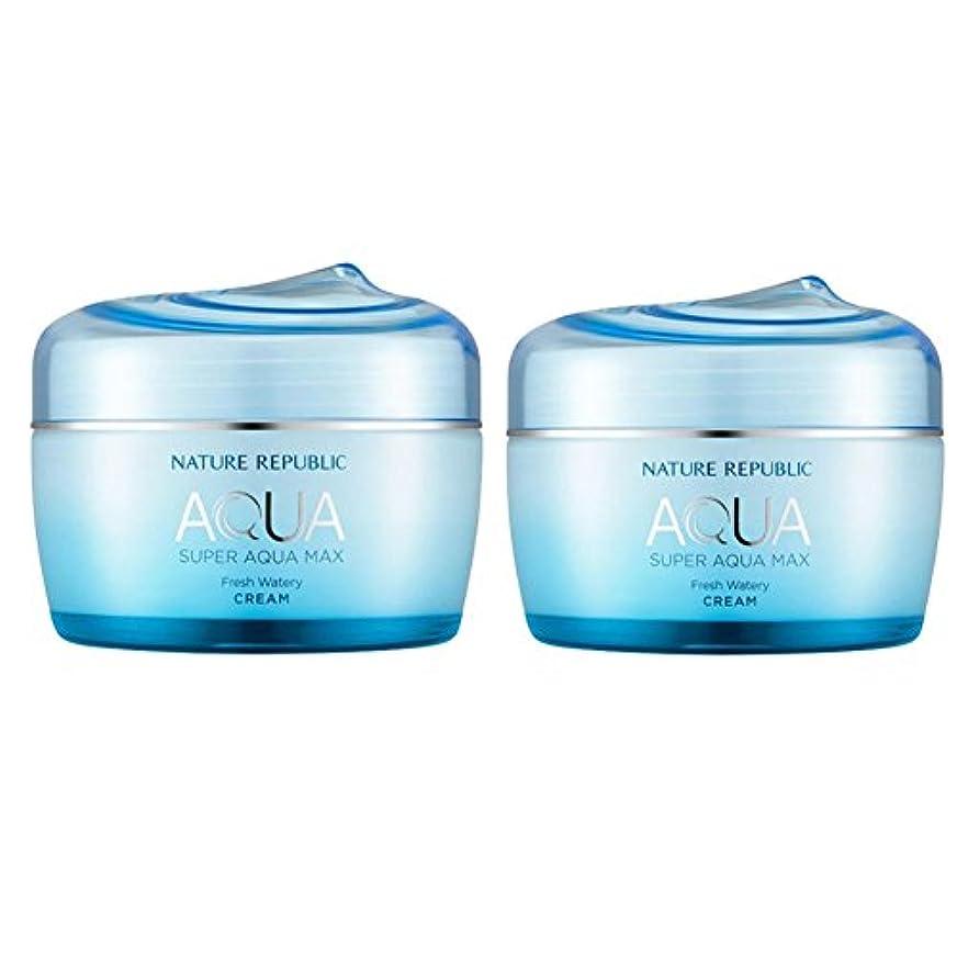 オゾン期待してびっくりネイチャーリパブリックスーパーアクア?マックスフレッシュ水分クリーム 油性皮膚 80ml x 2本セット、韓国化粧品 Nature Republic Super Aqua Max Fresh Moisture Cream Oily Skin, 80ml x 2ea, Korean Cosmetics [並行輸入品]