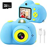 U Memory ids Camera, Mini Rechargeable 18MP HD Children Shockproof Camcorder Toys