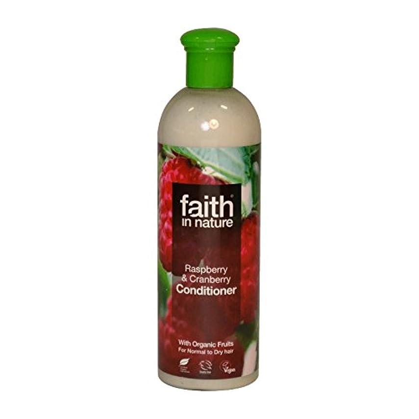 日帰り旅行に変換する減少Faith in Nature Raspberry & Cranberry Conditioner 400ml (Pack of 6) - 自然ラズベリー&クランベリーコンディショナー400ミリリットルの信仰 (x6)...