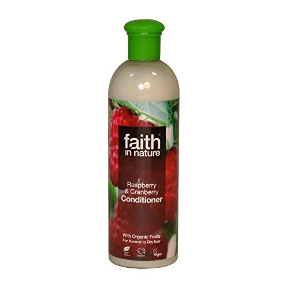 縞模様の歌ジャグリングFaith in Nature Raspberry & Cranberry Conditioner 400ml (Pack of 6) - 自然ラズベリー&クランベリーコンディショナー400ミリリットルの信仰 (x6)...