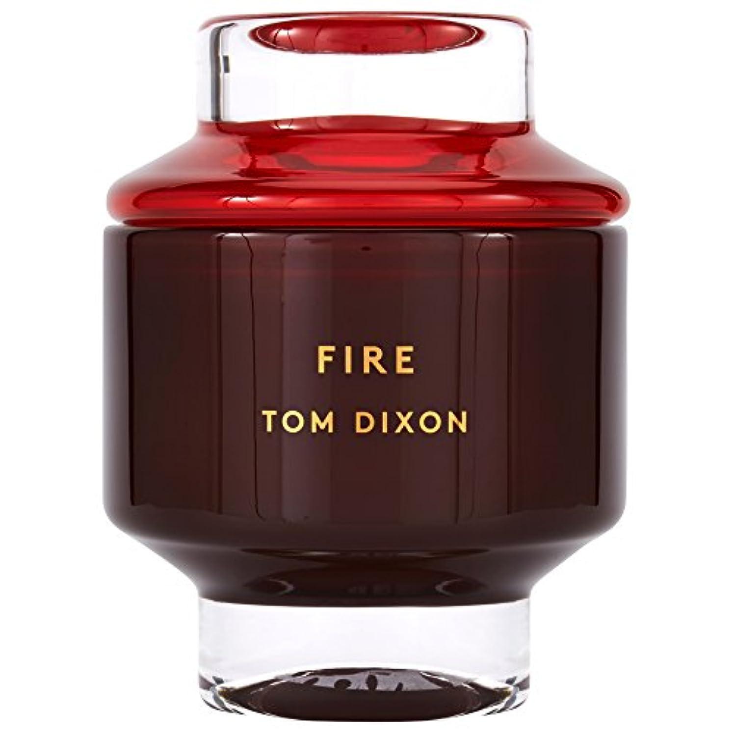 のれんワークショップ急いでTom Dixon Fire Scented Candle Large (Pack of 2) - トム?ディクソン火災大型香りのキャンドル x2 [並行輸入品]