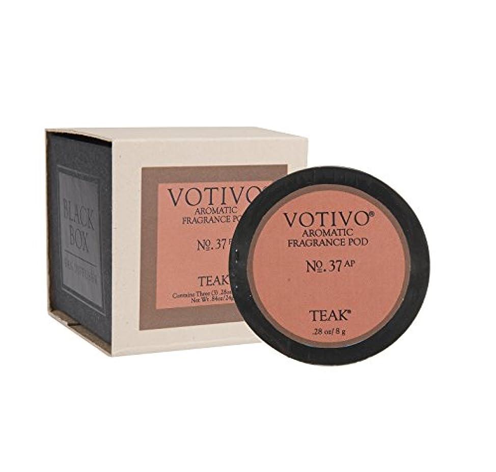 一貫した褐色困惑するVOTIVO アロマティック フレグランスポッド チーク(1箱にポッド3個入り)