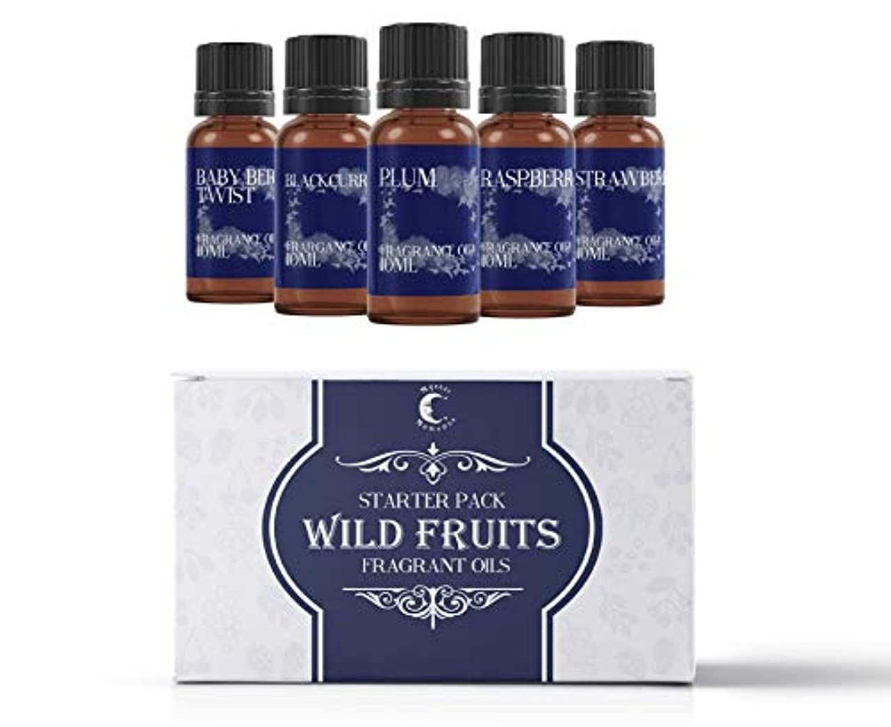 ブラシ消費野生Mystic Moments | Fragrant Oil Starter Pack - Wild Fruit Oils - 5 x 10ml