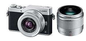 Panasonic ミラーレス一眼カメラ ルミックス GF9 ダブルズームレンズキット 標準ズームレンズ/単焦点レンズ付属 シルバー DC-GF9W-S