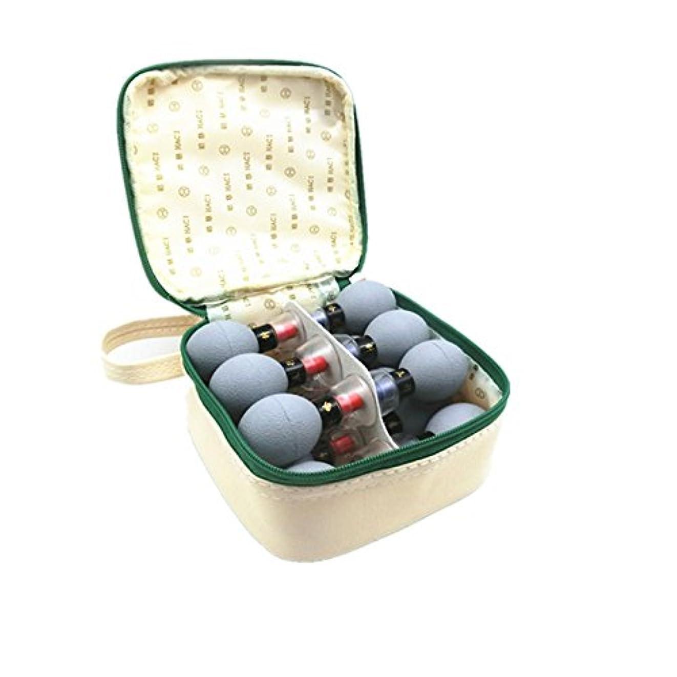 ブランド名教え配置家庭用真空磁気療法指圧吸引カップTCM鍼灸治療用マッサージヘルスケアセット