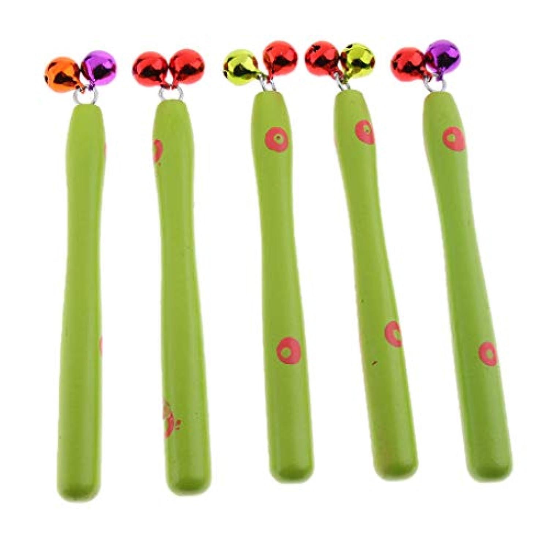 P Prettyia 5個 ハンドベル ハンドヘルド ジングルベル 子供 楽器玩具
