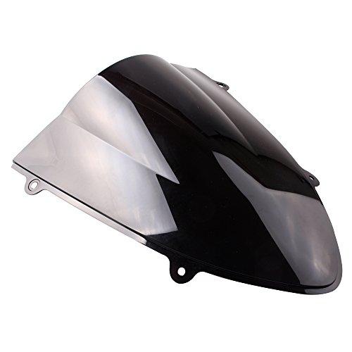 GZYF バイク用 エアロダイナミック スクリーン ウインドシールド ダークスモーク 適合車種(カワサキ ニンジャ250R 08-12年)