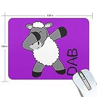 ユキオ(UKIO) マウスパッド おしゃれ 防水 滑り止め かわいい 使いやすい 北欧 Hippop ダンス 羊 女性 リストレスト マウス PCアクセサリ 男性