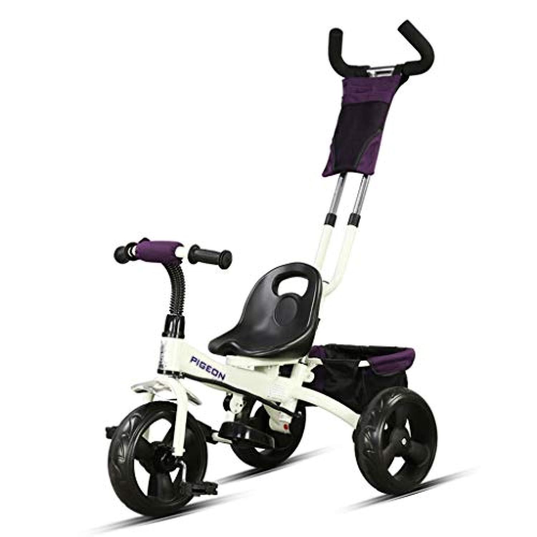 子供用三輪車 - 折りたたみ式三輪車ハンドプッシュ、クイックリリースリアホイール ( Color : 1 )
