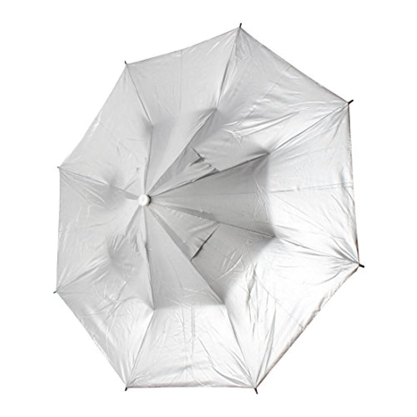 防衛出身地しばしばuxcell 釣り傘 傘帽子 釣り用 ヘッドバンド 傘状の帽子 ヘッドウェア 室外 釣り 狩り あごストラップ 折り畳める ポリエステル ライトグリーン