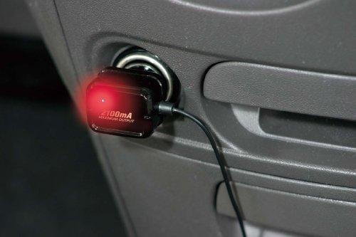 ナポレックス 車用スマートフォン充電器 Fizz DCアダプター 2mコード ブラック 2.1A 2100mA出力仕様 microUSBコネクタ Dockコネクタ USB変換コネクタ付き アイコスの充電可能  汎用 Fizz-971