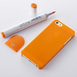 Simplism iPhone 5/5S クリスタルカバー 傷防止コーティング/ストラップホール/抗菌/液晶保護フィルム付属 アプリコット TR-CCIP13-OR