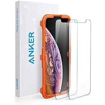 【2枚セット / 専用フレーム付属】Anker GlassGuard iPhone XS/X用 強化ガラス液晶保護フィルム 【硬度9H / 簡単貼付】