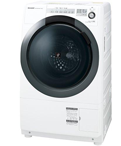 シャープ SHARP コンパクトドラム 左開き ES-S7C-WL 洗濯・脱水容量7㎏/乾燥容量3.5kg ES-S7C-WL