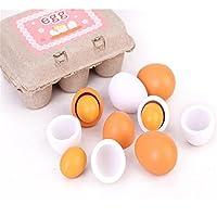 教育Kid Pretend Play Toyセット木製卵卵黄キッチン料理