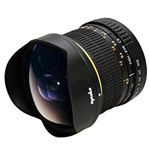 Opteka 6.5mm f/3.5 Manual Focus Aspherical Fisheye Lens for Canon EOS 7D, 6D, 5D, 1DX, 70D, 60D, 50D, 40D, T5i, T4i, T3i, T3, T2i and SL1 Digital SLR Cameras (New Version) [並行輸入品]