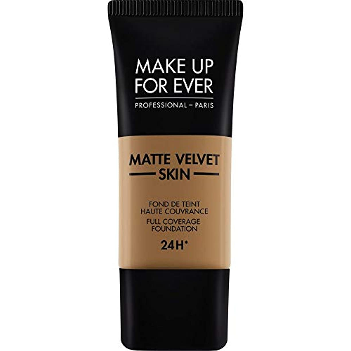 悪化する一般的に食料品店[MAKE UP FOR EVER ] これまでマットベルベットの皮膚のフルカバレッジ基礎30ミリリットルのY505を補う - コニャック - MAKE UP FOR EVER Matte Velvet Skin Full...