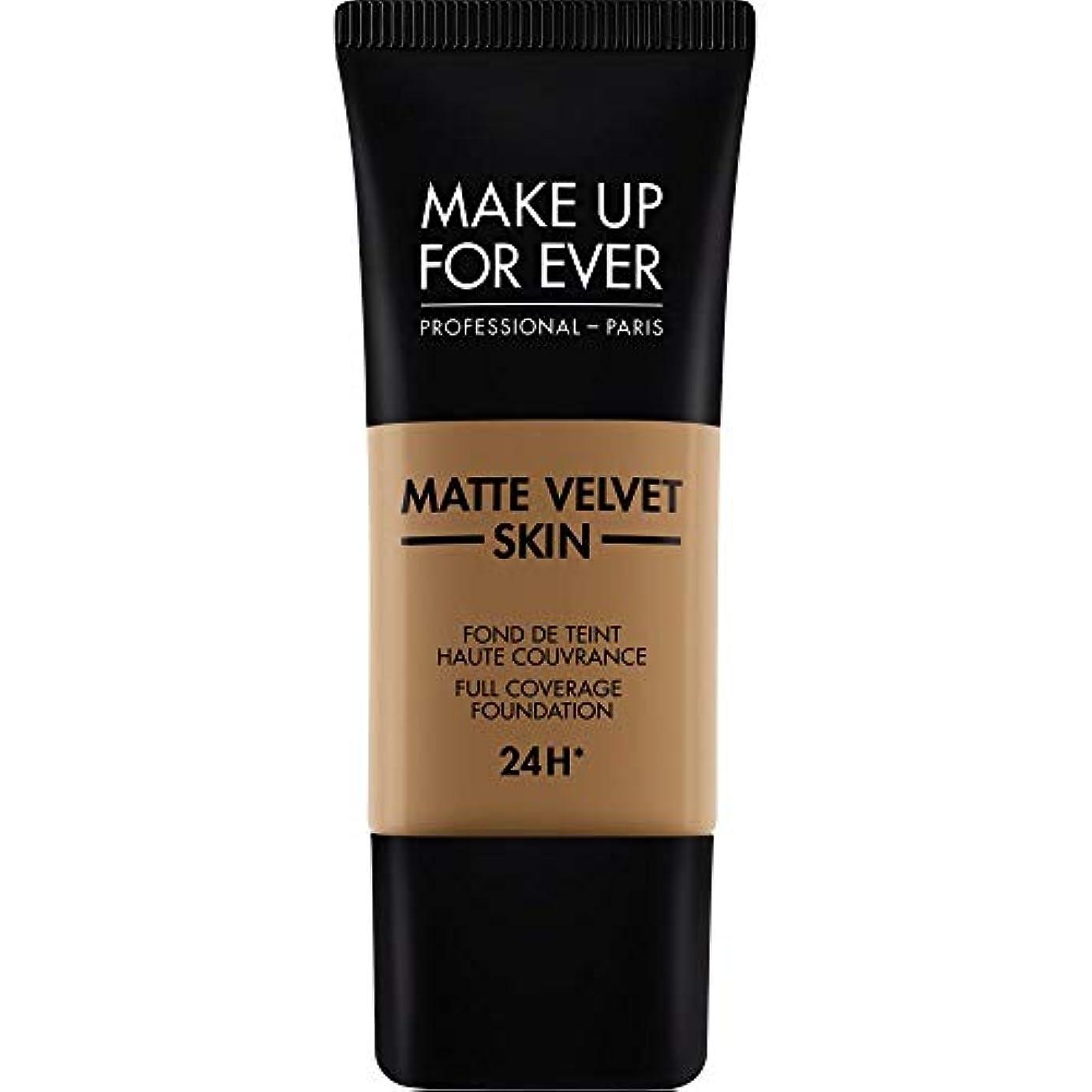 普通のしょっぱい崖[MAKE UP FOR EVER ] これまでマットベルベットの皮膚のフルカバレッジ基礎30ミリリットルのY505を補う - コニャック - MAKE UP FOR EVER Matte Velvet Skin Full...