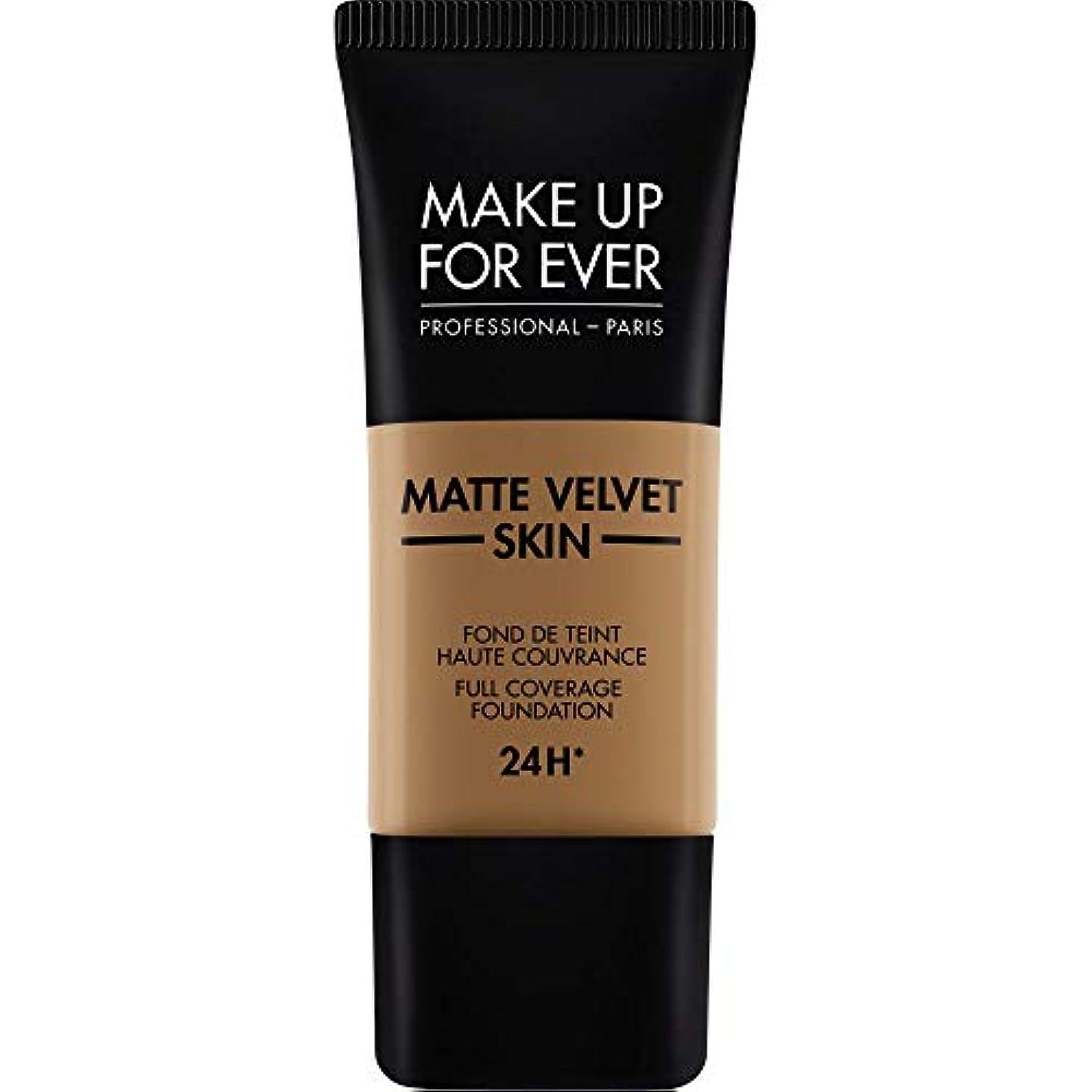 イタリアの作業不毛[MAKE UP FOR EVER ] これまでマットベルベットの皮膚のフルカバレッジ基礎30ミリリットルのY505を補う - コニャック - MAKE UP FOR EVER Matte Velvet Skin Full...