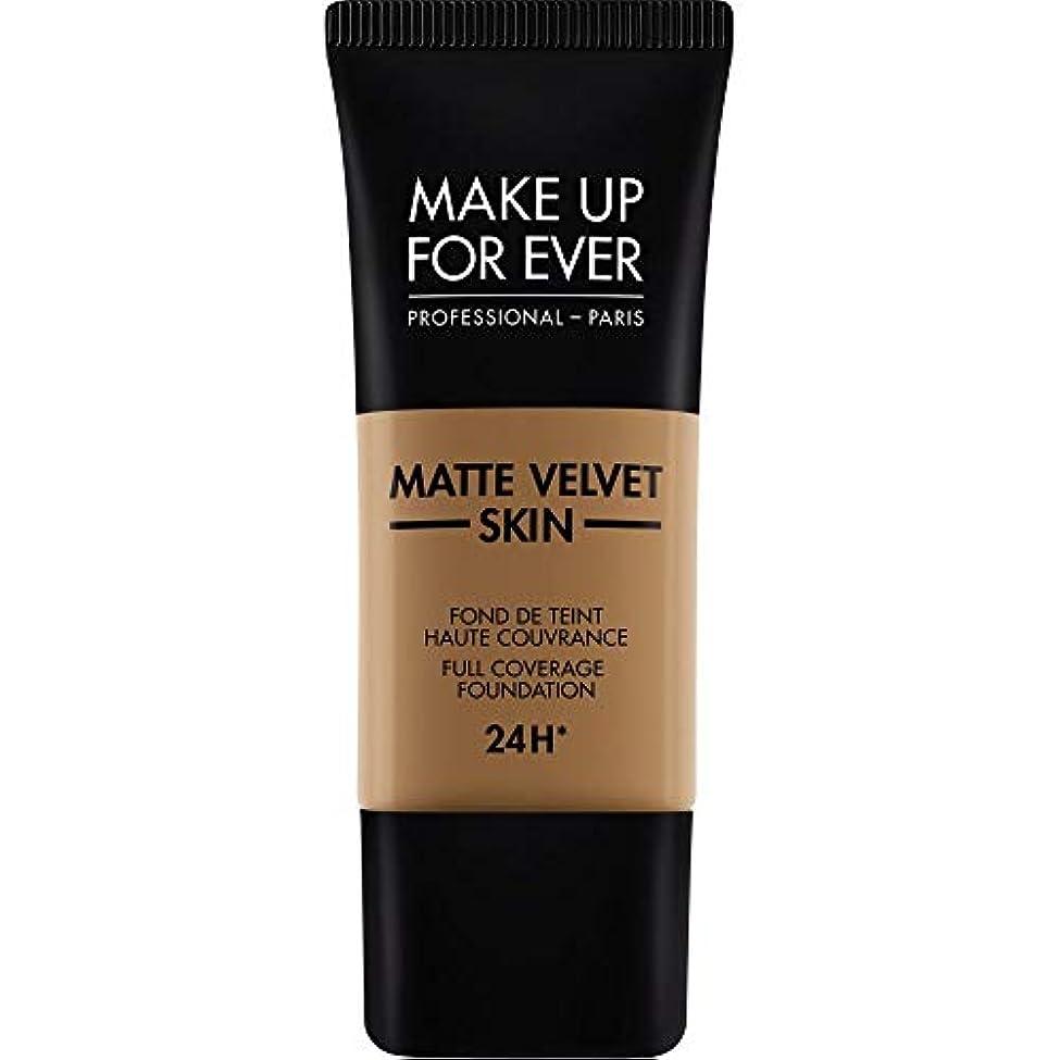アレイプレゼン署名[MAKE UP FOR EVER ] これまでマットベルベットの皮膚のフルカバレッジ基礎30ミリリットルのY505を補う - コニャック - MAKE UP FOR EVER Matte Velvet Skin Full...